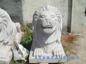 五莲花石狮子